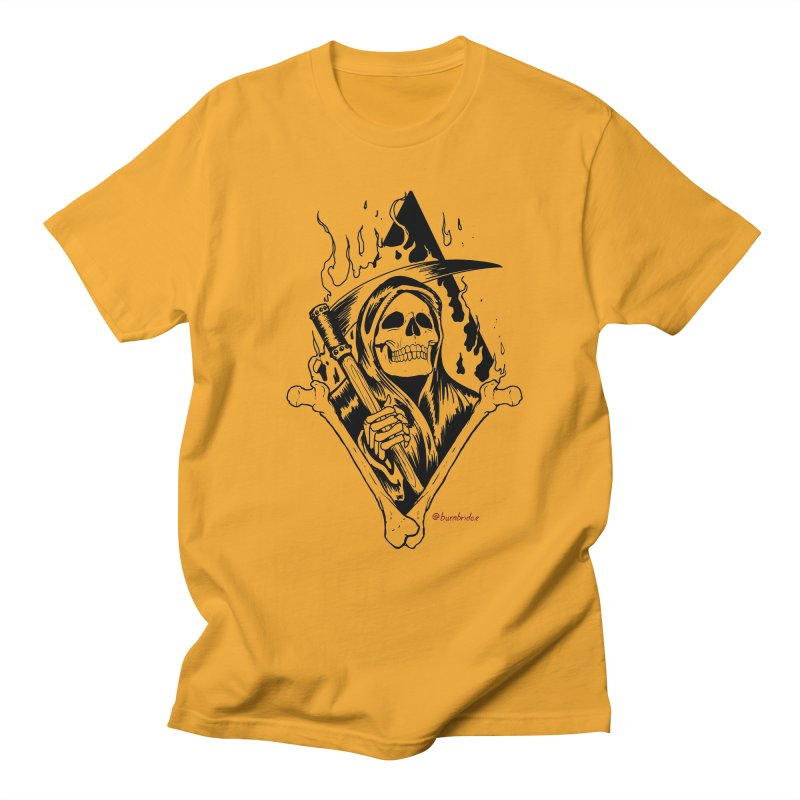 Flaming Reaper Women's Regular Unisex T-Shirt by Ben Licata's Artist Shop