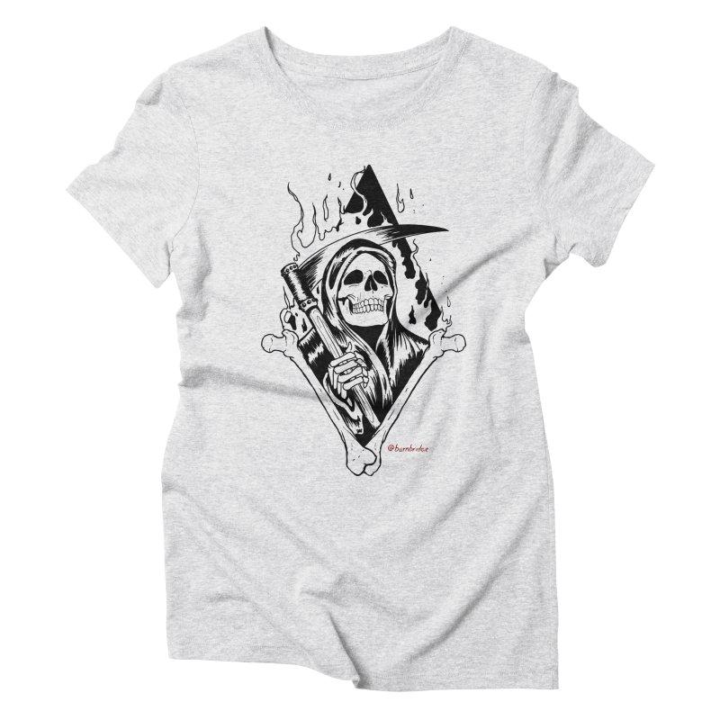 Flaming Reaper Women's Triblend T-Shirt by Ben Licata's Artist Shop