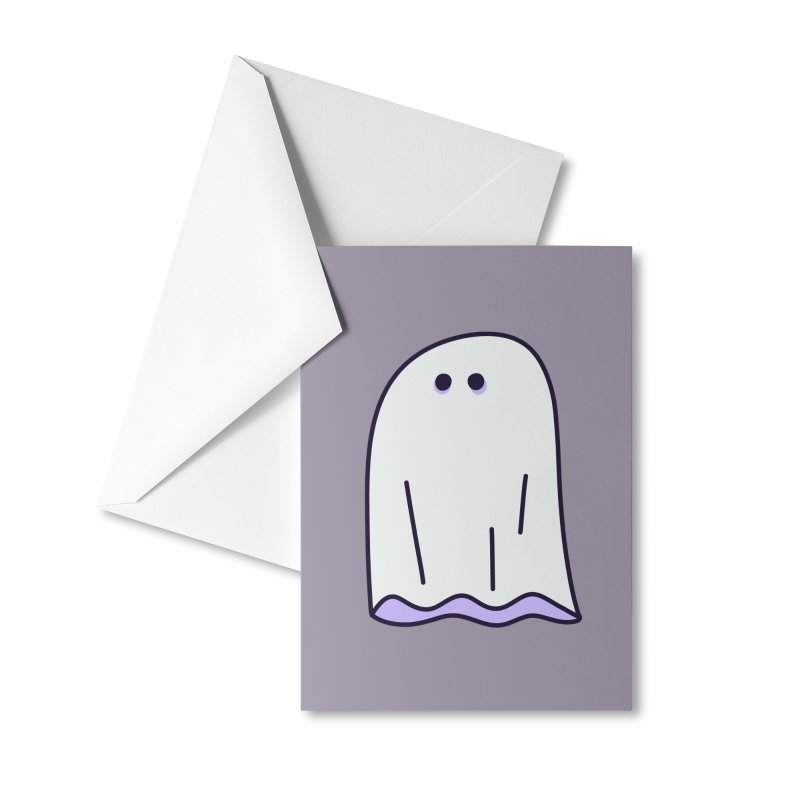 LE SHEET BON BOO Accessories Greeting Card by Burrito Goblin