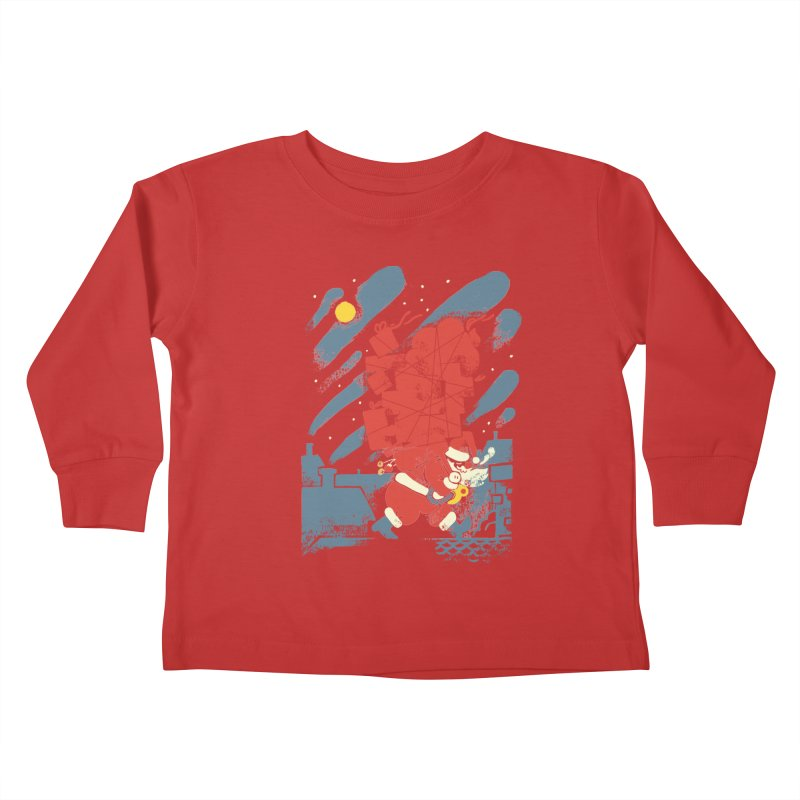 List Checking Kids Toddler Longsleeve T-Shirt by Burrito Goblin