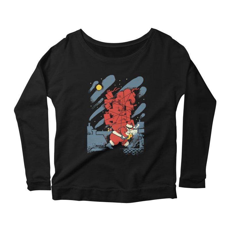 List Checking Women's Scoop Neck Longsleeve T-Shirt by Burrito Goblin