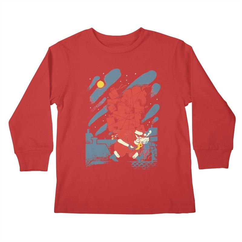 List Checking Kids Longsleeve T-Shirt by Burrito Goblin