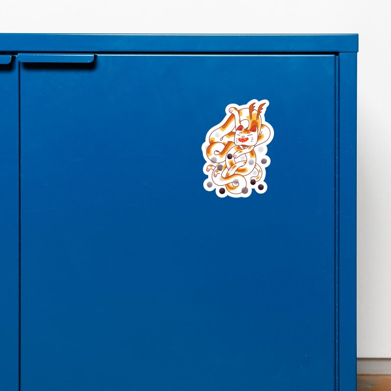 Boba Cat Dragon Accessories Magnet by Burrito Goblin