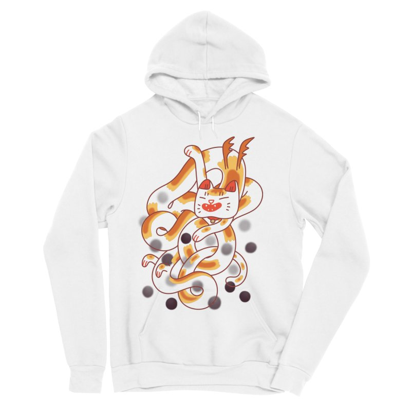 Boba Cat Dragon Women's Sponge Fleece Pullover Hoody by Burrito Goblin