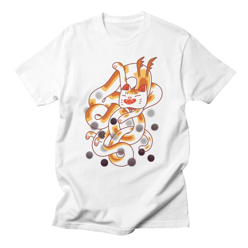 Boba Cat Dragon Men's Regular T-Shirt by Burrito Goblin