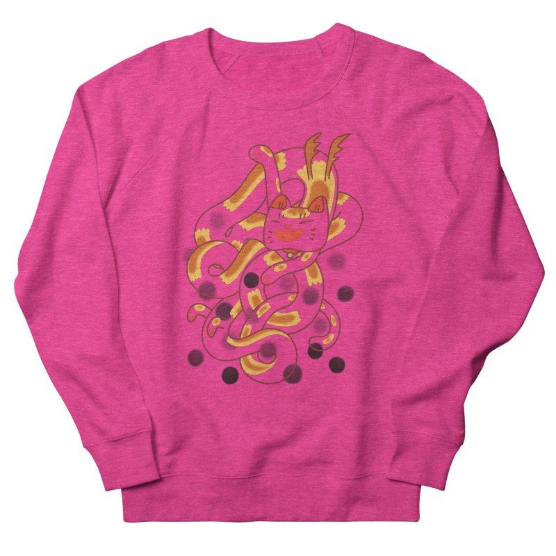 Boba Cat Dragon Men's French Terry Sweatshirt by Burrito Goblin