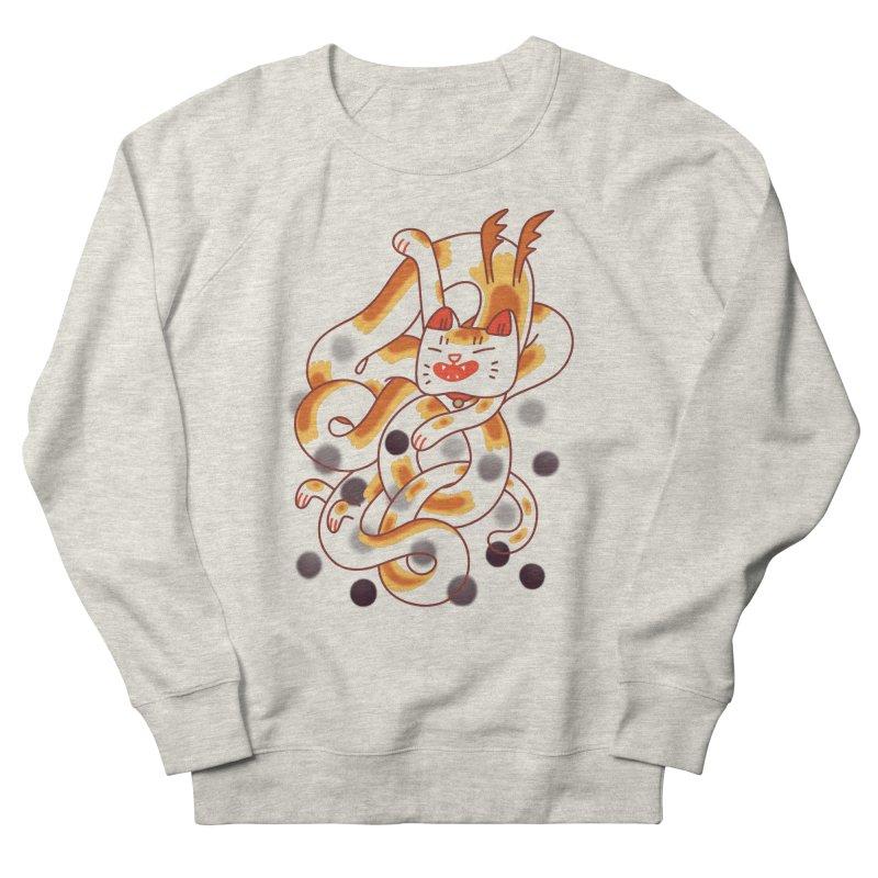 Boba Cat Dragon Men's Sweatshirt by Burrito Goblin