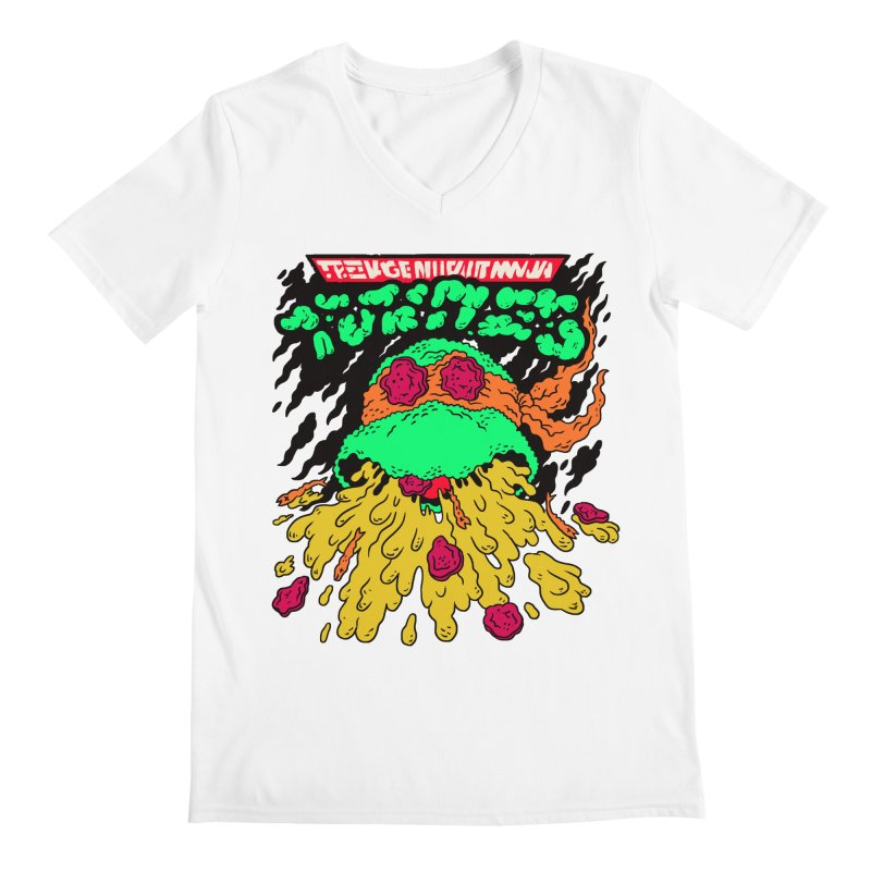 Barfabunga - Orange Men's V-Neck by Burrito Goblin