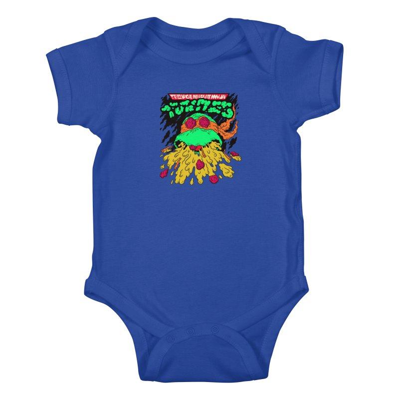 Barfabunga - Orange Kids Baby Bodysuit by Burrito Goblin