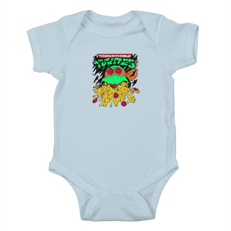 Barfabunga - Orange Kids Baby Bodysuit by Burrito Goblin