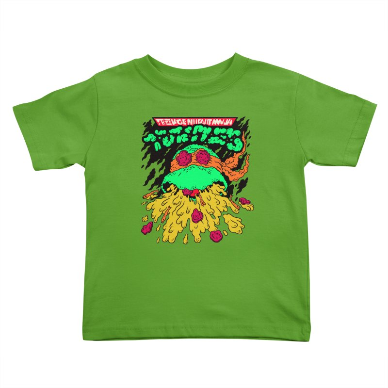 Barfabunga - Orange Kids Toddler T-Shirt by Burrito Goblin
