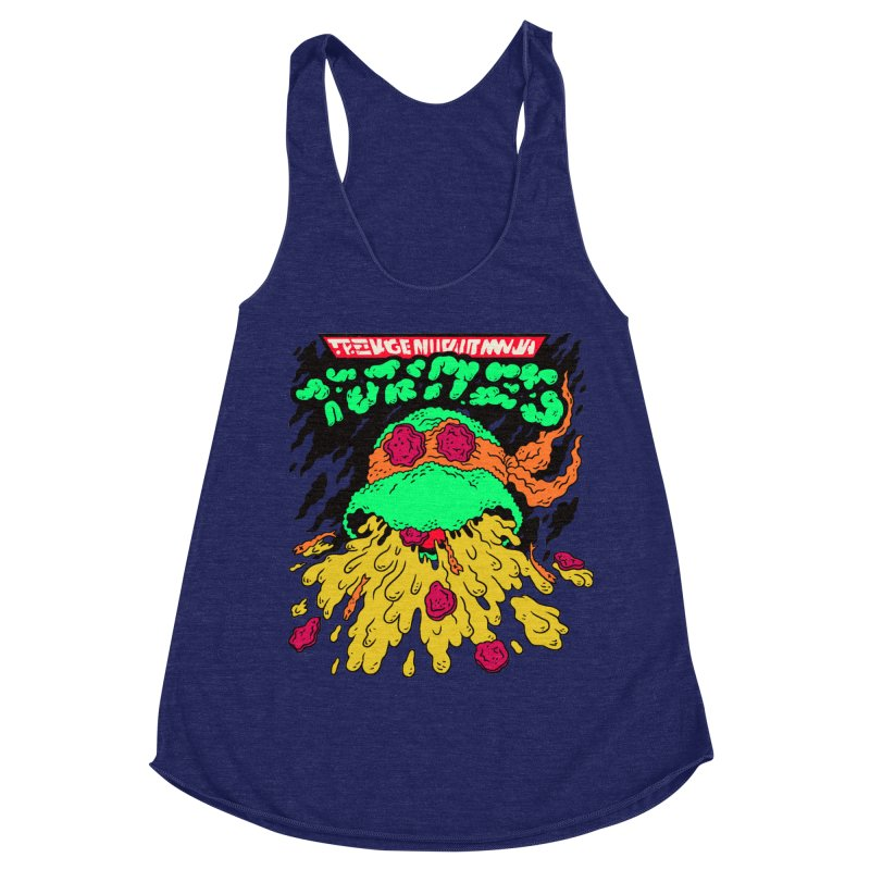 Barfabunga - Orange Women's Racerback Triblend Tank by Burrito Goblin