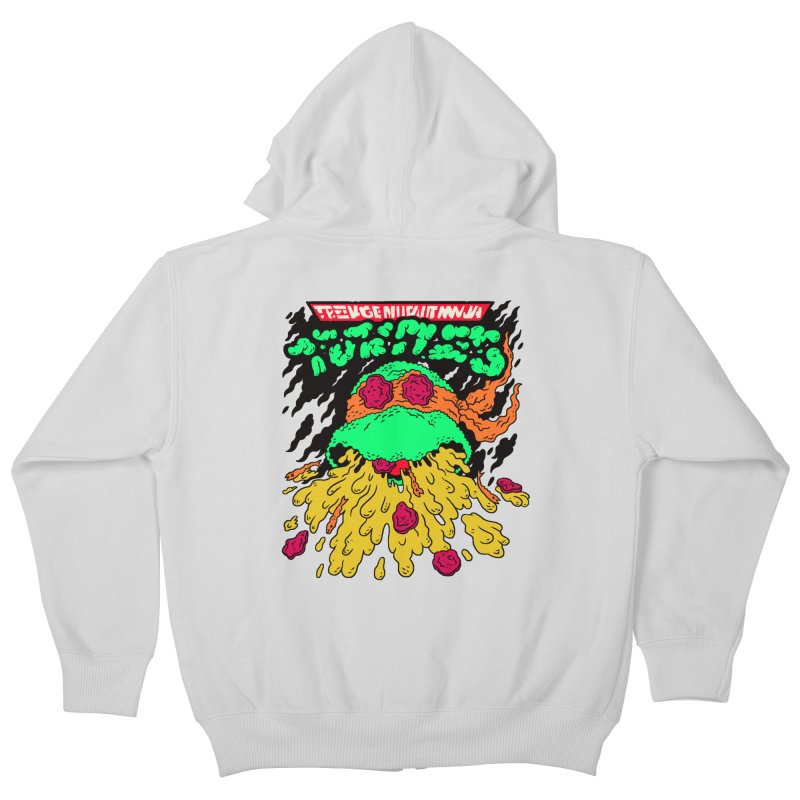 Barfabunga - Orange Kids Zip-Up Hoody by Burrito Goblin