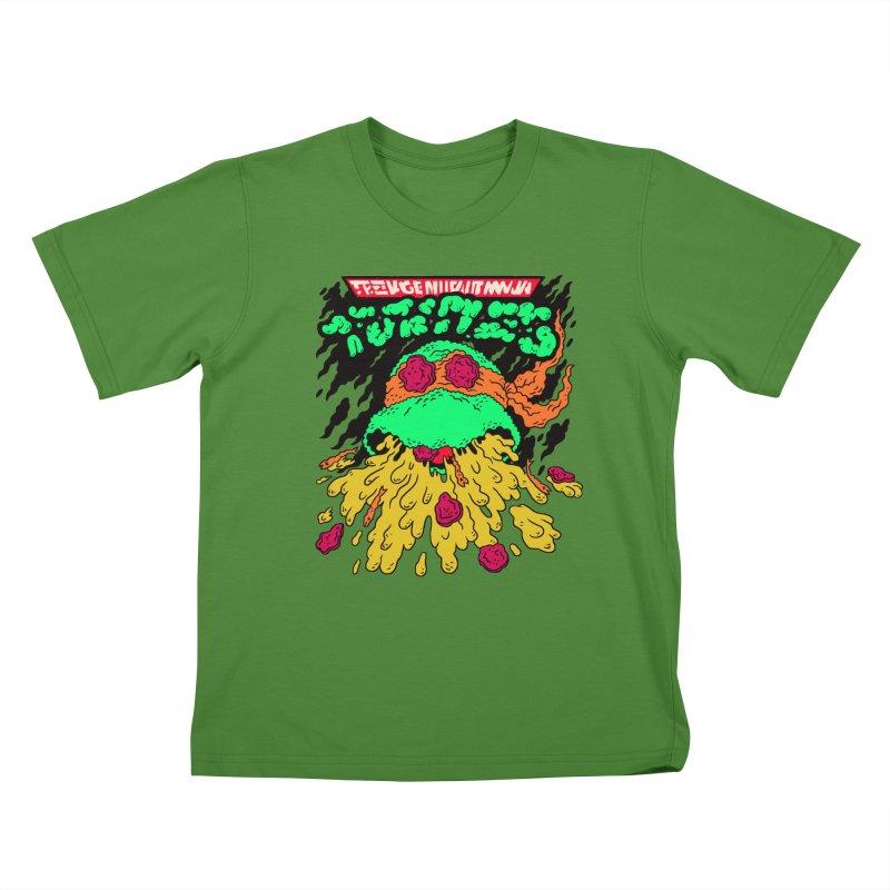 Barfabunga - Orange Kids T-shirt by Burrito Goblin