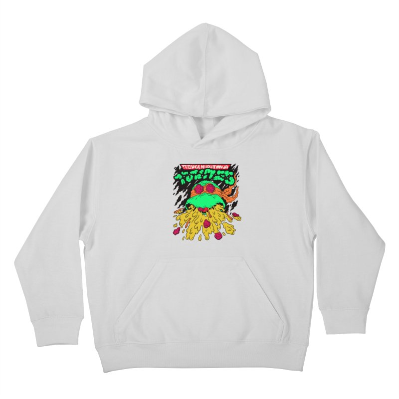 Barfabunga - Orange Kids Pullover Hoody by Burrito Goblin