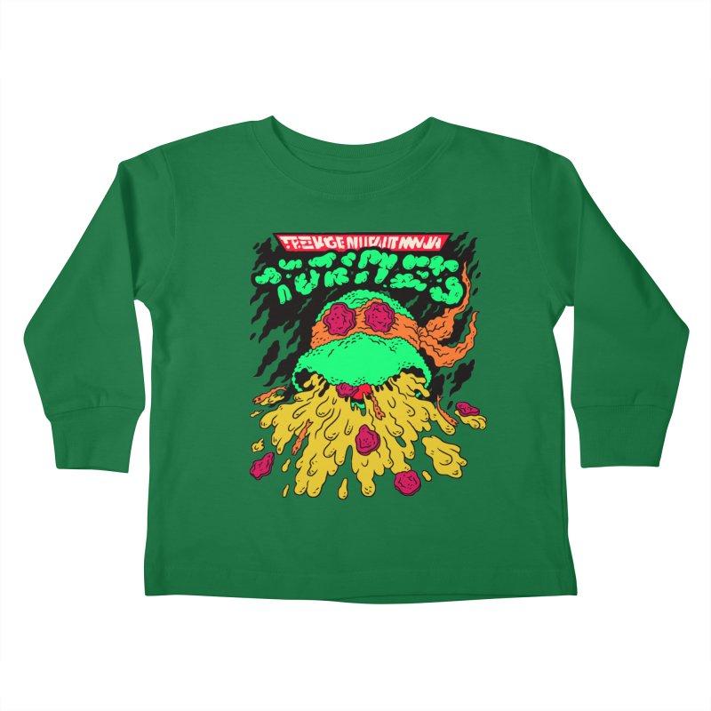 Barfabunga - Orange Kids Toddler Longsleeve T-Shirt by Burrito Goblin