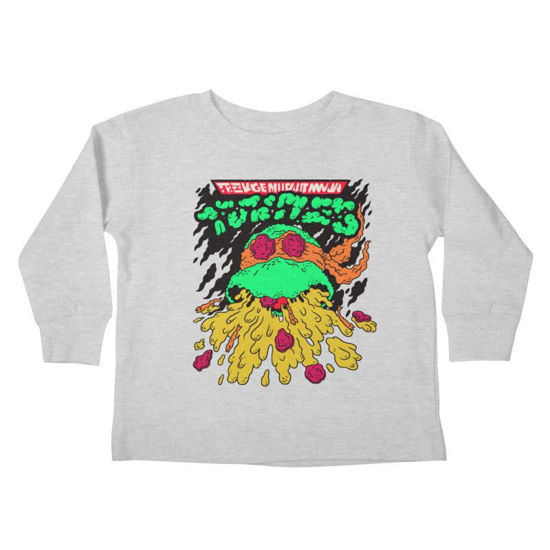 Barfabunga - Orange Kids Toddler Longsleeve T-Shirt by Burrito Goblin