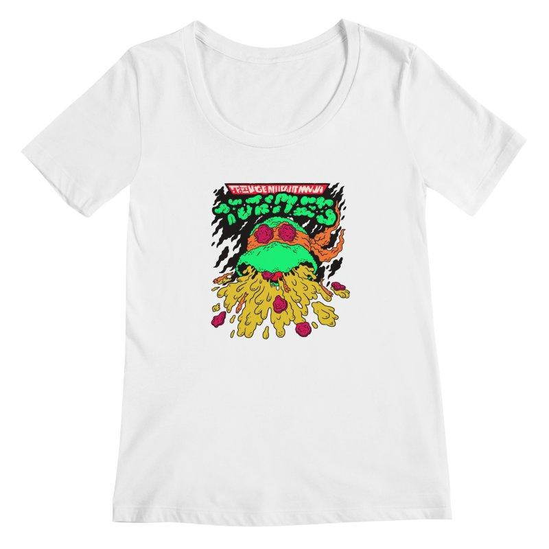 Barfabunga - Orange Women's Scoopneck by Burrito Goblin