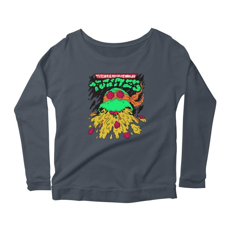 Barfabunga - Orange Women's Scoop Neck Longsleeve T-Shirt by Burrito Goblin