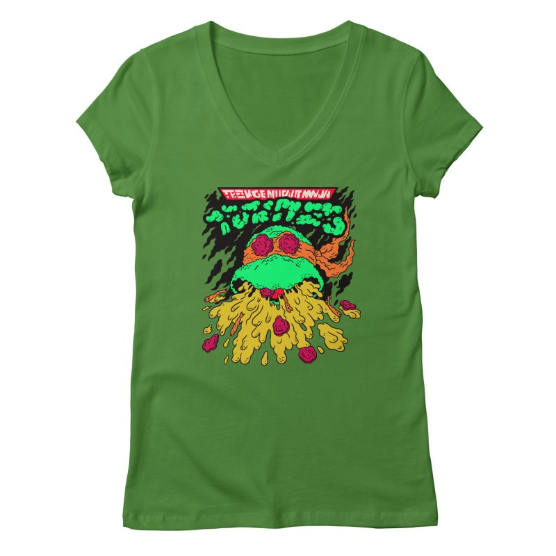 Barfabunga - Orange Women's V-Neck by Burrito Goblin