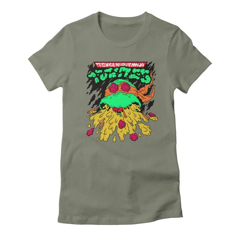 Barfabunga - Orange Women's Fitted T-Shirt by Burrito Goblin