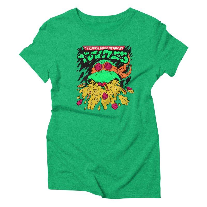 Barfabunga - Orange Women's Triblend T-Shirt by Burrito Goblin