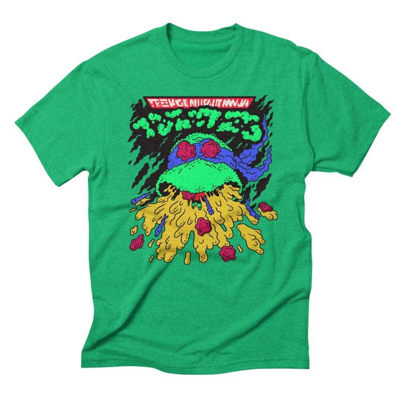 Barfabunga - Blue Men's Triblend T-Shirt by Burrito Goblin