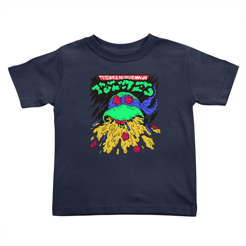 Barfabunga - Blue Kids Toddler T-Shirt by Burrito Goblin