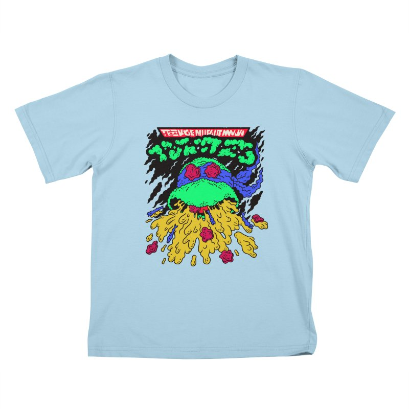 Barfabunga - Blue Kids T-Shirt by Burrito Goblin