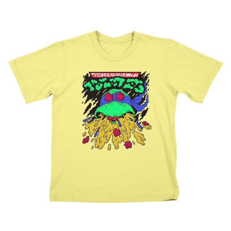 Barfabunga - Blue Kids T-shirt by Burrito Goblin