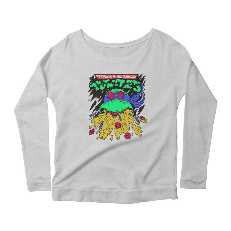 Barfabunga - Blue Women's Scoop Neck Longsleeve T-Shirt by Burrito Goblin