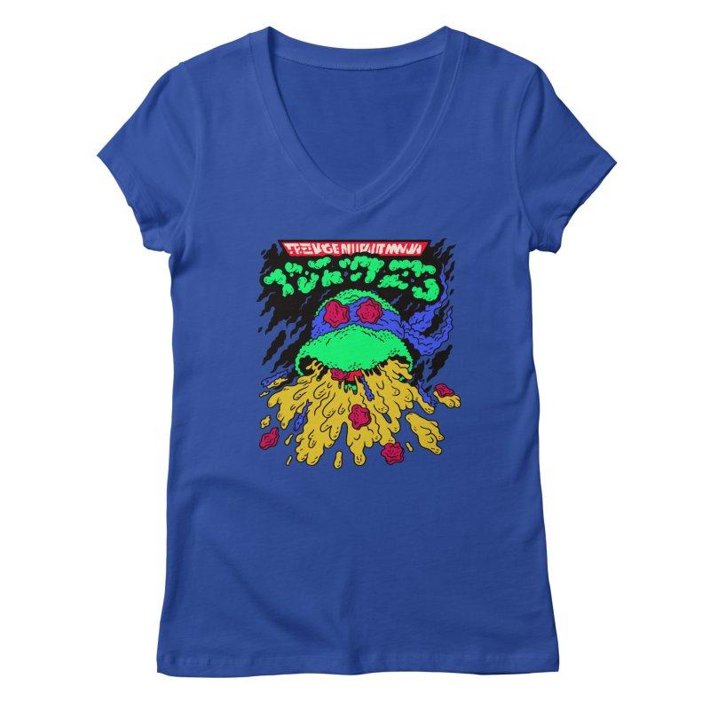 Barfabunga - Blue Women's V-Neck by Burrito Goblin