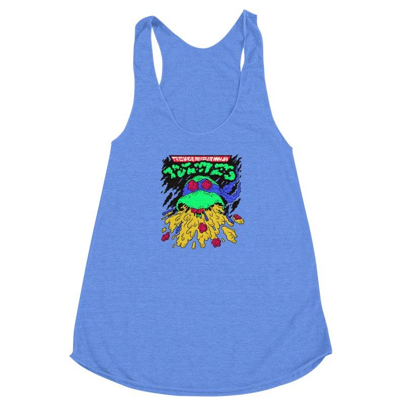 Barfabunga - Blue Women's Racerback Triblend Tank by Burrito Goblin