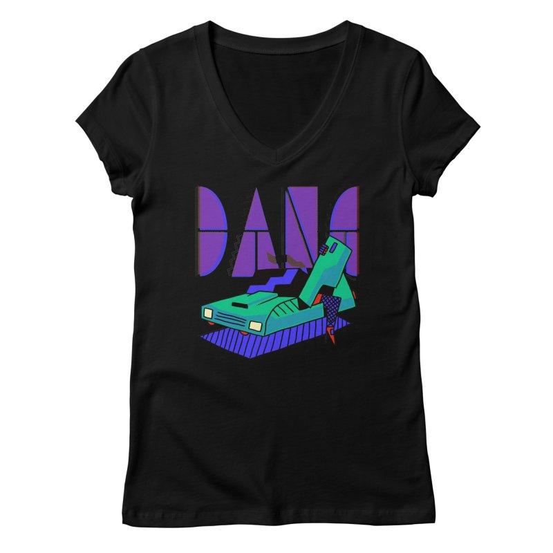 Dang Women's V-Neck by Burrito Goblin