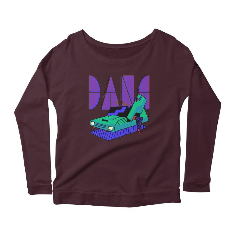 Dang Women's Scoop Neck Longsleeve T-Shirt by Burrito Goblin