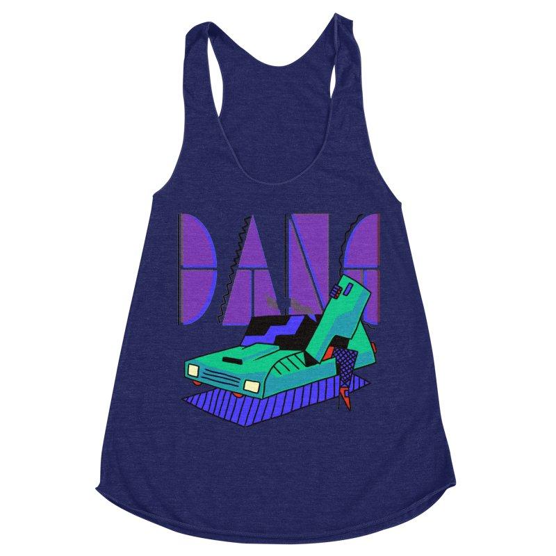 Dang Women's Racerback Triblend Tank by Burrito Goblin