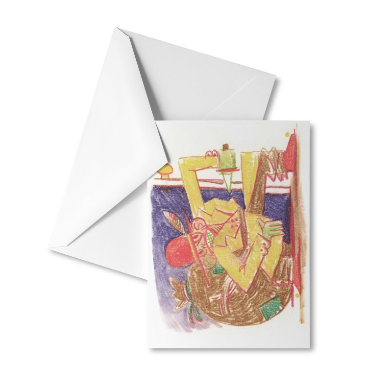 Roctober - Boogeyman Accessories Greeting Card by Burrito Goblin