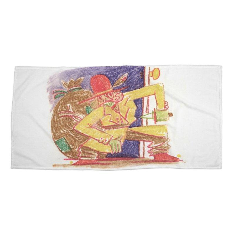 Roctober - Boogeyman Accessories Beach Towel by Burrito Goblin