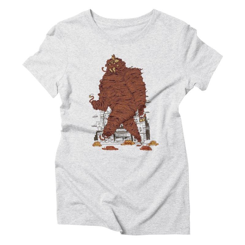 Mustache Ride Women's T-Shirt by Burrito Goblin