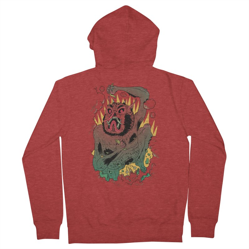 Oni Bologna Men's French Terry Zip-Up Hoody by Burrito Goblin