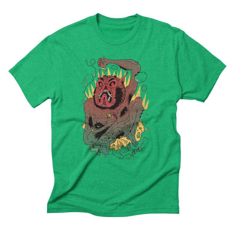 Oni Bologna Men's Triblend T-Shirt by Burrito Goblin