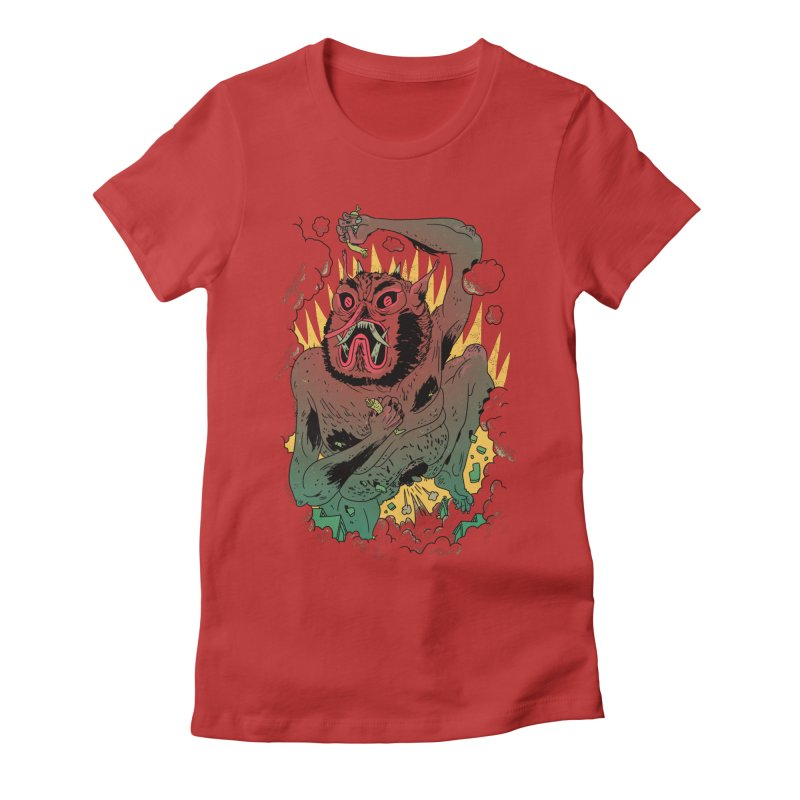 Oni Bologna Women's Fitted T-Shirt by Burrito Goblin