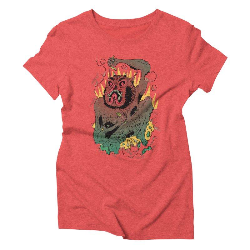 Oni Bologna Women's Triblend T-Shirt by Burrito Goblin