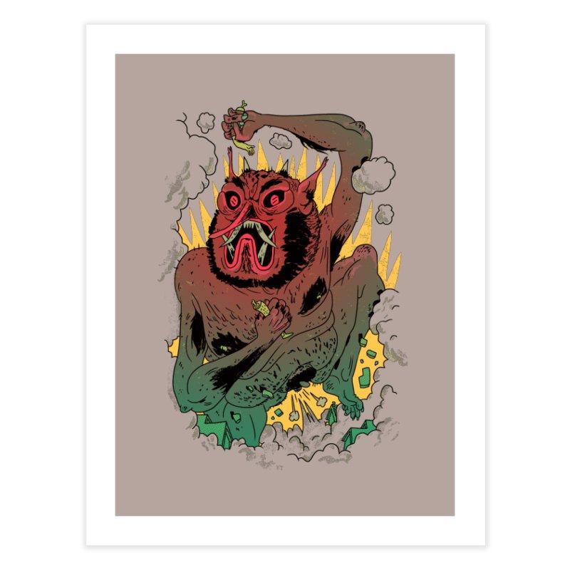 Oni Bologna Home Fine Art Print by Burrito Goblin