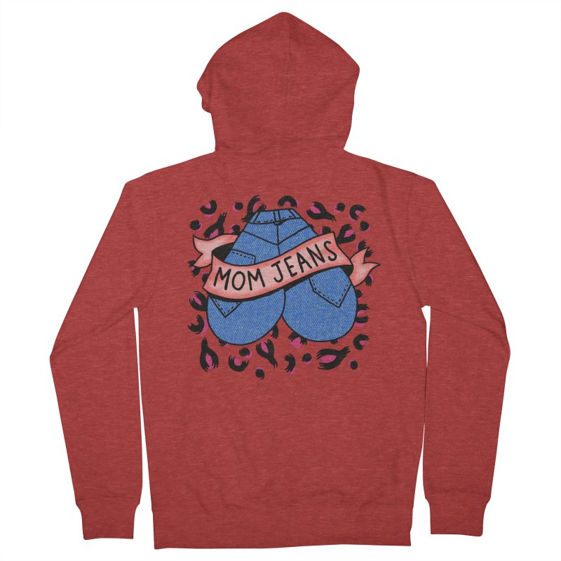 Mom Jeans <3 <3 <3 Men's French Terry Zip-Up Hoody by Burrito Goblin