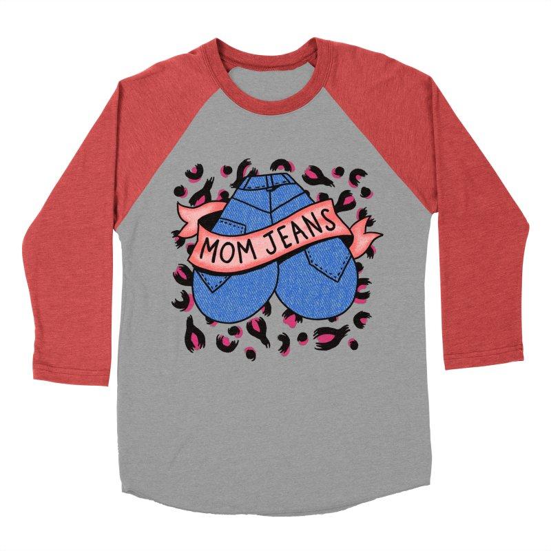 Mom Jeans <3 <3 <3 Men's Baseball Triblend Longsleeve T-Shirt by Burrito Goblin