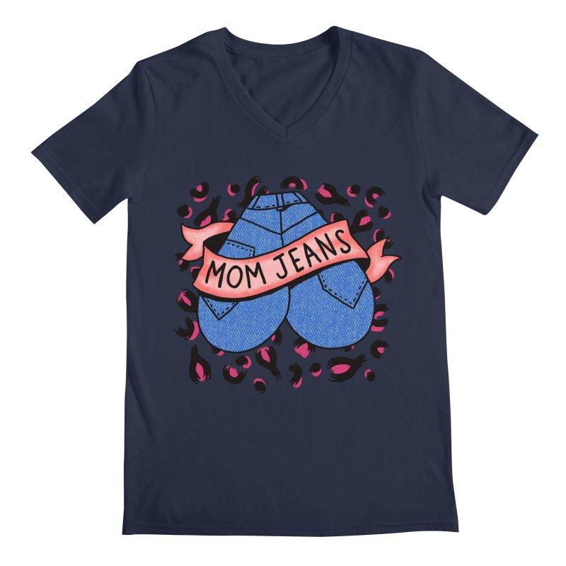 Mom Jeans <3 <3 <3 Men's V-Neck by Burrito Goblin