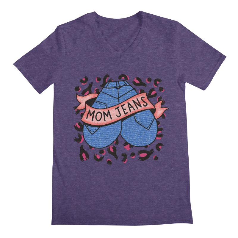 Mom Jeans <3 <3 <3 Men's Regular V-Neck by Burrito Goblin