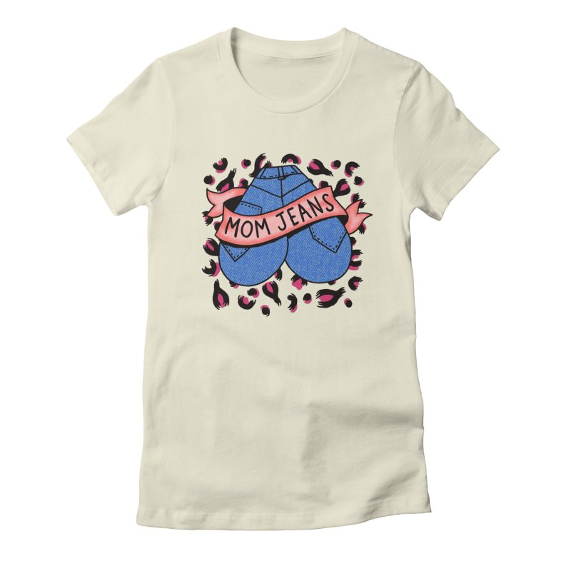 Mom Jeans <3 <3 <3 Women's Fitted T-Shirt by Burrito Goblin