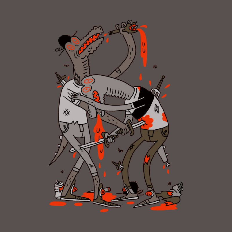 Drunk N Dinosaurderly Men's T-Shirt by Burrito Goblin
